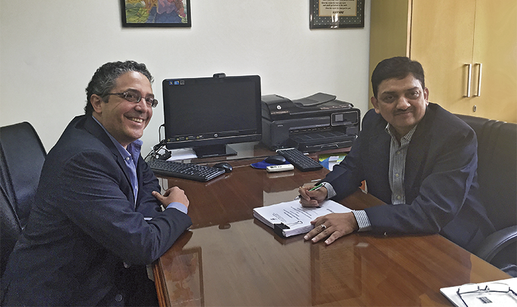 A RAIL EXPERT. A civil engineer with more than 15 years' experience in the sector, he has held positions as a director at Rail Vikas Nigam, the Ministry of Railways, Indian Railways, Piedmont & Northern Railway and Delhi Metro Rail Corporation Ltd. In the image, beside José Manuel Sáez, Account manager at Asia and Africa of Ineco.