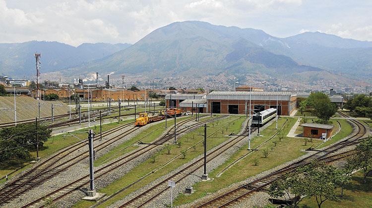 Medellin Metro facilities.
