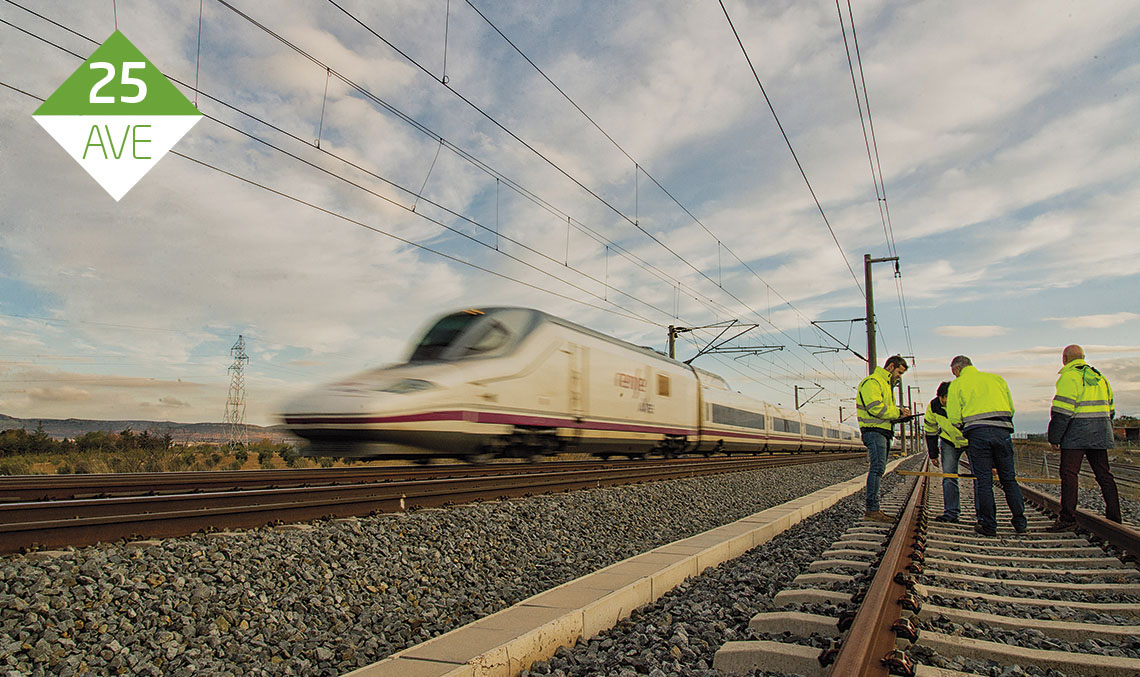 WORK BASE. For 25 years, Ineco has led the technical track and infrastructure assistance on the Madrid-Seville high-speed line, work which is carried out from the three ADIF maintenance facilities: Mora, Calatrava and Hornachuelos.